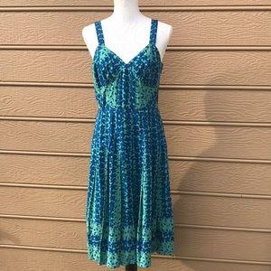 Marc Jacobs Blue and Green Sleeveless Sundress 8